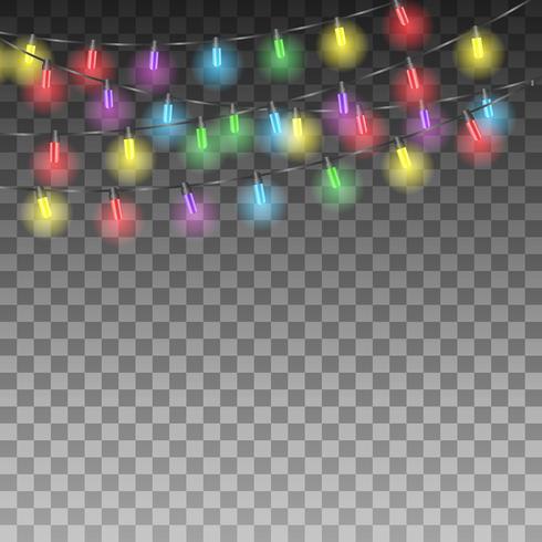 Fond avec des lumières de vacances