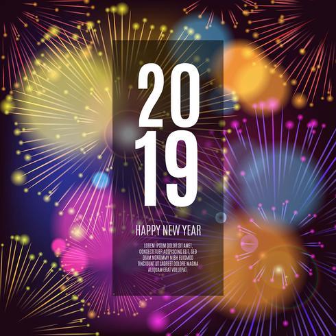 2019 celebration fireworks beautiful background