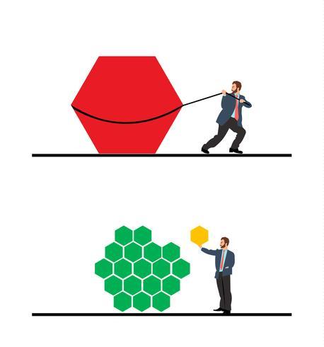 Ilustración de la metodología empresarial ágil.