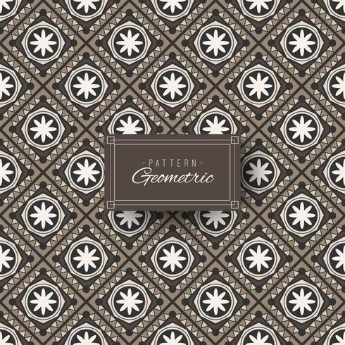 Floral and geometric pattern