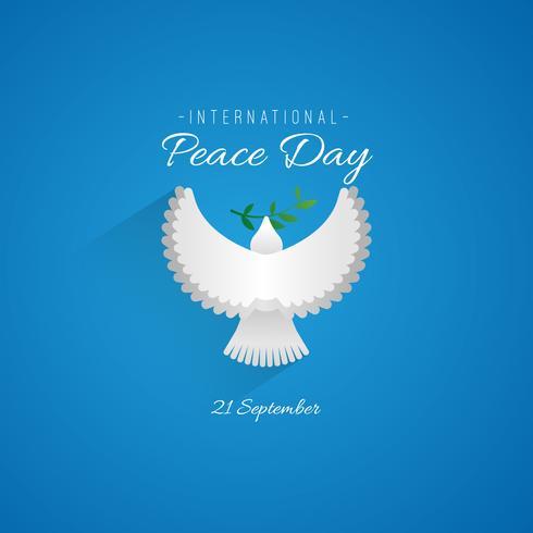 Logo del día internacional de la paz.