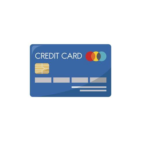 Ilustração, de, um, cartão crédito