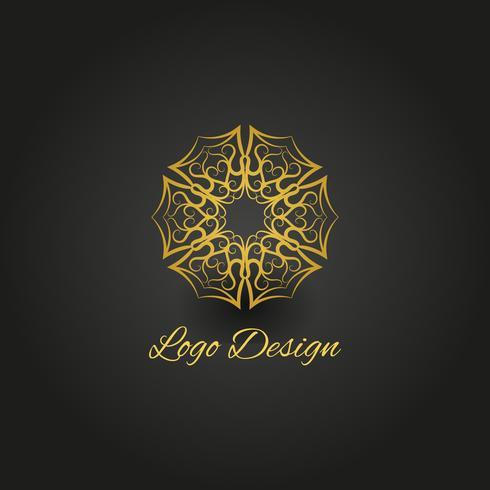 Logo del mandala dorado.