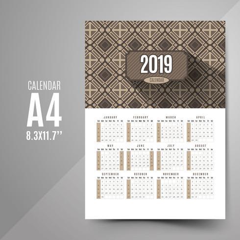 Calendario vintage 2019