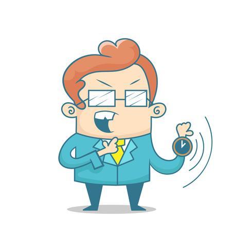 Uomo con orologi che simboleggia la gestione del tempo, la produttività, la pianificazione e la programmazione