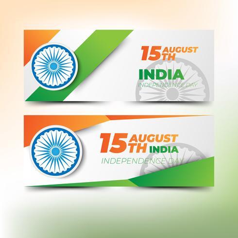 Banners abstractos para el día de la independencia india