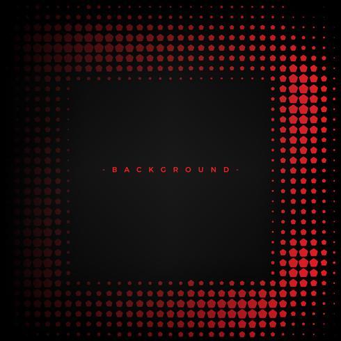 Abstrait rouge et noir avec le pentagone