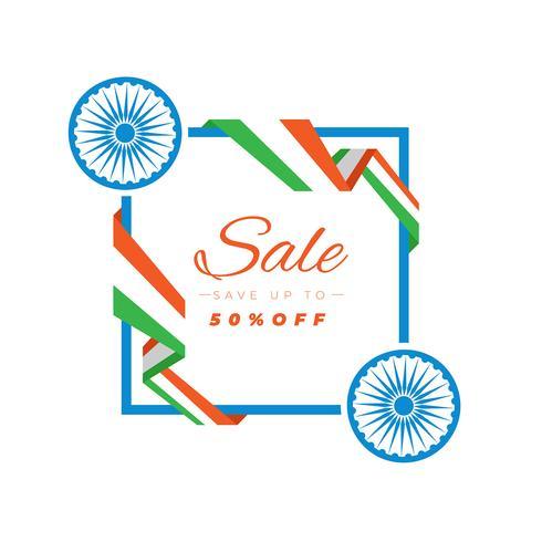 Verkoopbanner voor de Indische viering van de onafhankelijkheidsdag