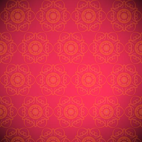 Sfondo rosso modello mandala