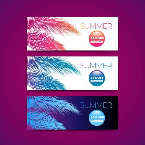Bannière d'été tropical