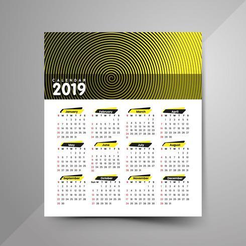 2019 halftone calendar