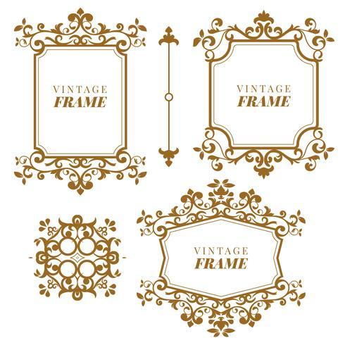 Vintage vector Set. Éléments floraux pour la conception de monogrammes, invitations, cadres, menus et étiquettes