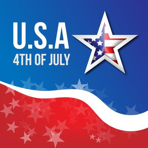 Independencia de Estados Unidos con estrella