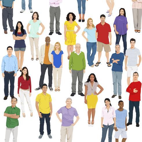 Illustration of diverse people