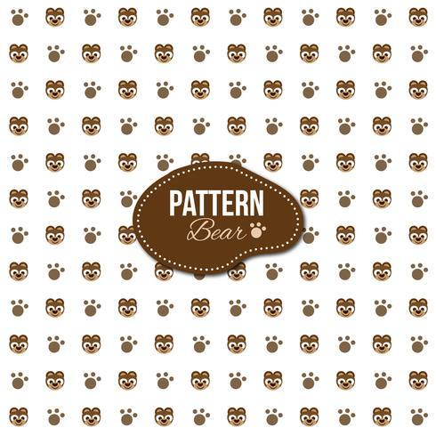 Patrón con formas de oso y huellas.
