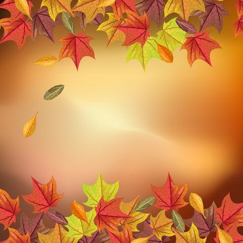 Fondo de otoño encantador con realista