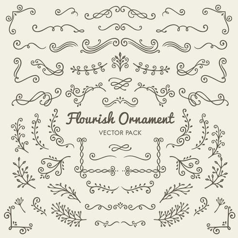 S'épanouir ornements design calligraphique éléments vectoriels mis illustration