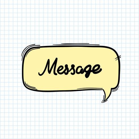 Meddelandeord i talbubbla