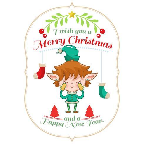 Sfondo di Natale con elfo