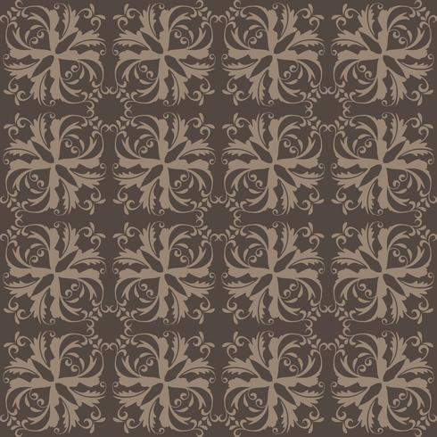 Floral pattern. Wallpaper baroque, damask. Seamless vector background. Gray ornament