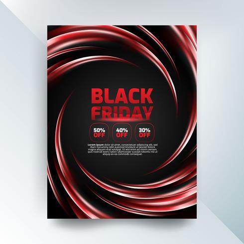 Cartaz de vendas sexta-feira negra com luzes