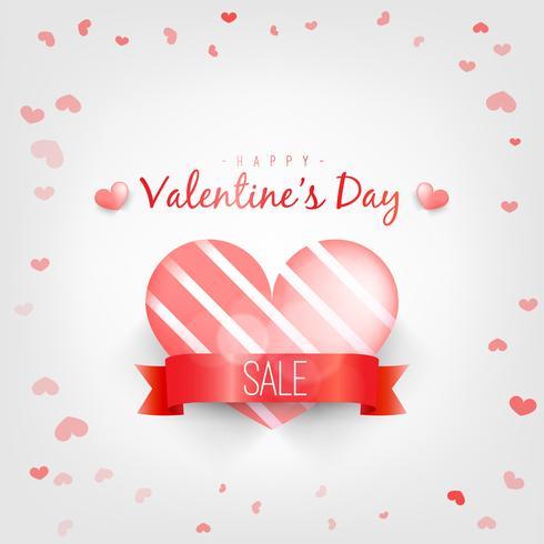 Corazón brillante rojo de las tarjetas del día de San Valentín en un fondo rosado