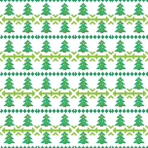 Kerstpatronen in pixelart-stijl