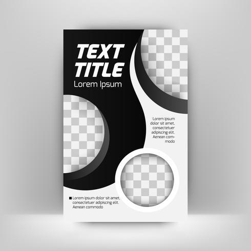 Disposizione di progettazione della copertura dell'opuscolo dell'opuscolo dell'aletta di filatoio del manifesto con gli elementi e lo spazio grafici di forma del cerchio