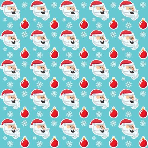 Modèle sans couture de dessin animé mignon Noël vacances