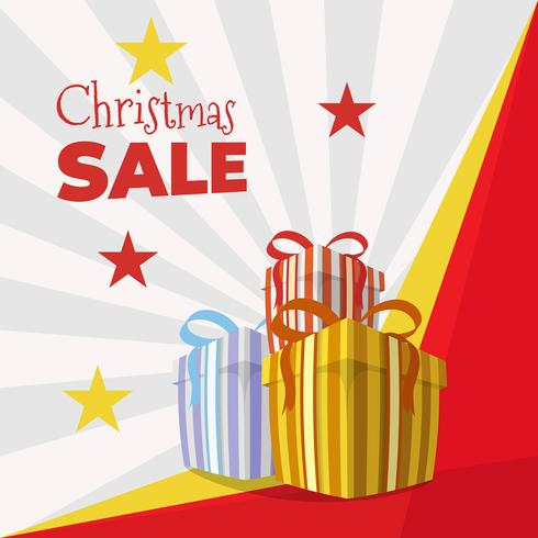 Christmas gifts sale background