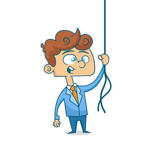 Affärsman med rep