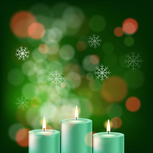 Fond de bougie de Noël