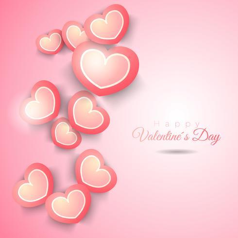 Vector Valentine e fundo de corações