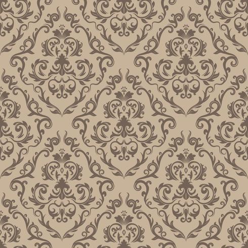 Motif floral Papier peint baroque, damassé. Fond vectorielle continue Ornement violet et blanc