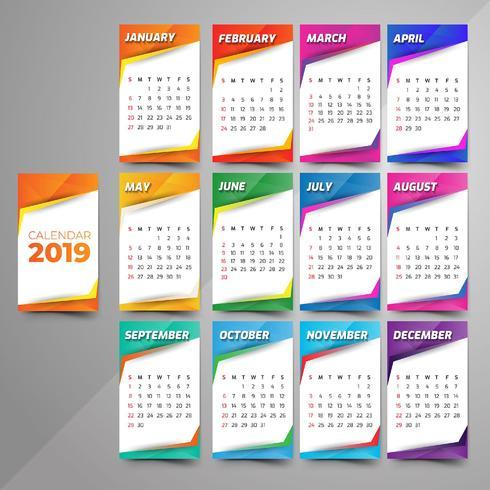 Anno 2019, Calendar Beautiful Design