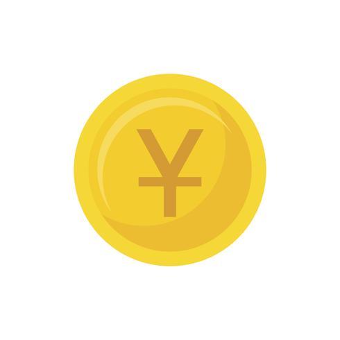 Ilustração, de, um, moeda dourada