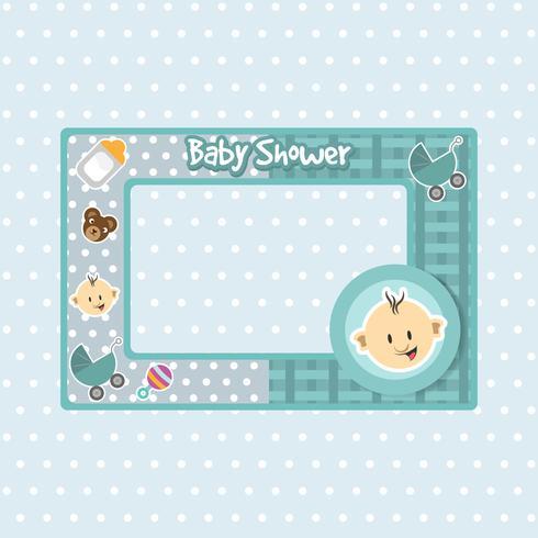 Cadre de douche de bébé de couleur bleue