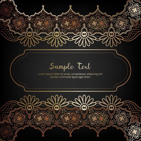 Invito elegante con decorazioni floreali in oro e nero