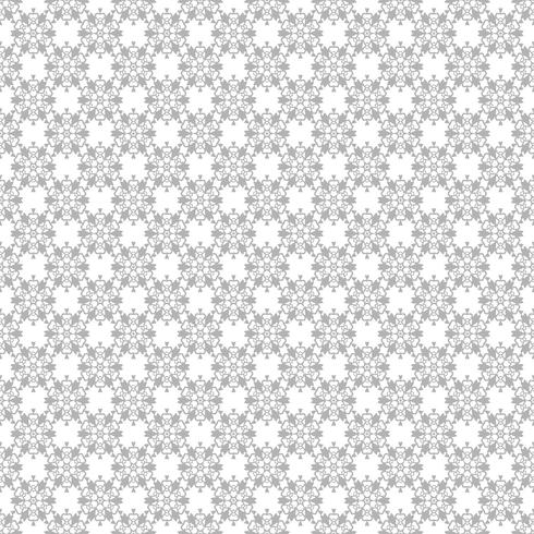 Motif floral abstrait. Fond gris et blanc de vecteur. Ornement géométrique