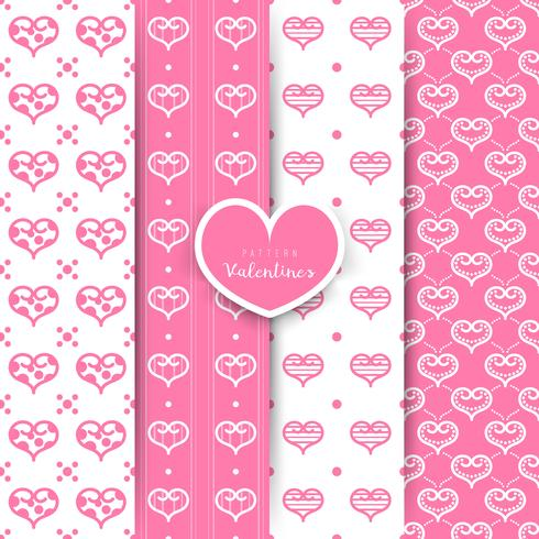 Día de San Valentín. patrón sin costuras con el corazón