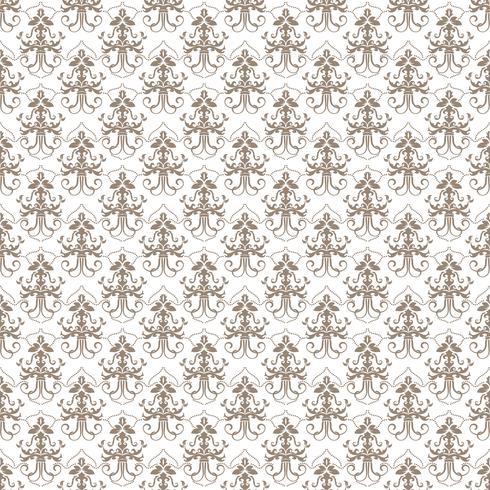 Motif floral Papier peint baroque, damassé. Fond vectorielle continue Ornement gris et blanc