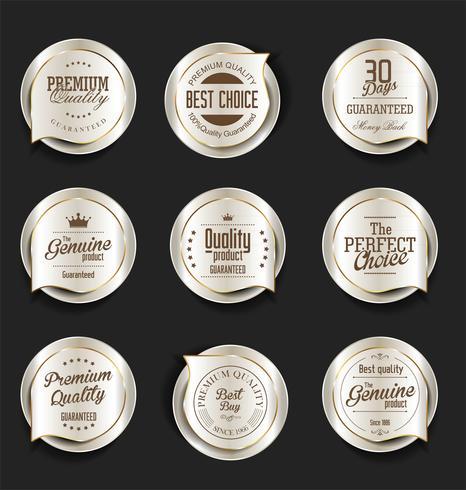 Luxus-Premium-Abzeichen und Etiketten