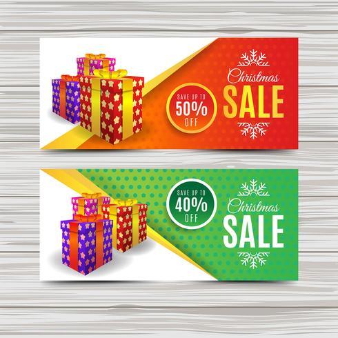 Modèle de bannière de vente créative de Noël
