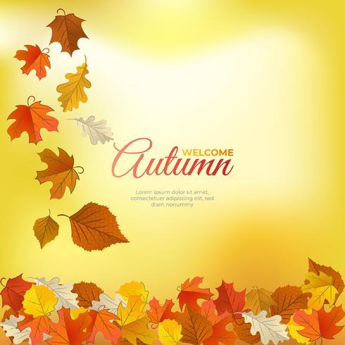 Sfondo autunno incantevole con realistico