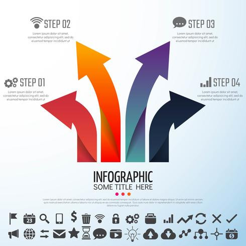 Flecha Infografía plantilla de diseño vector