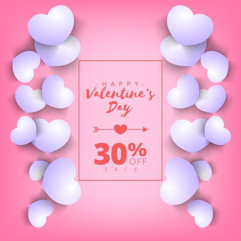 Fondo di vendita eccellente di giorno di San Valentino. Rosa sfondo astratto con cuore