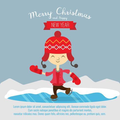 Card with christmas kid