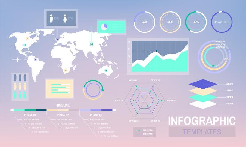 Vecteur de conception de modèles d'infographie