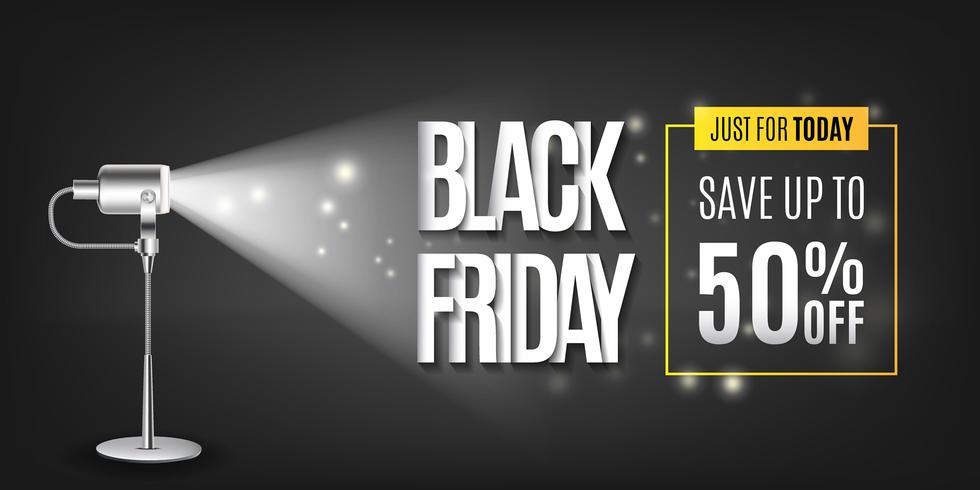 Illuminazione della lampada di fondo per il Black Friday