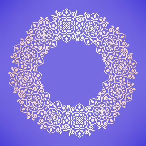 Modello arabo circolare. Ornamento barocco rotondo
